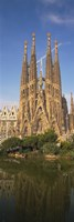 Low Angle View Of A Cathedral, Sagrada Familia, Barcelona, Spain Fine Art Print