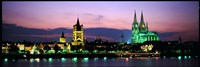 """Cityscape At Dusk, Cologne, Germany by Panoramic Images - 36"""" x 12"""""""