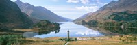 Scotland, Highlands, Loch Shiel Glenfinnan Monument, Reflection of cloud in the lake Fine Art Print