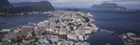 """Cityscape Alesund Norway by Panoramic Images - 36"""" x 12"""""""