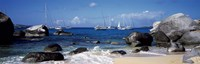 "Sailboats in the sea, The Baths, Virgin Gorda, British Virgin Islands by Panoramic Images - 36"" x 12"" - $34.99"