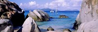 Boulders on a coast, The Baths, Virgin Gorda, British Virgin Islands Fine Art Print