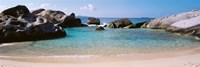 """British Virgin Islands, Virgin Gorda, The Baths, Rock formation in the sea by Panoramic Images - 36"""" x 12"""""""