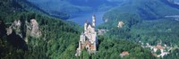 """High angle view of a castle, Neuschwanstein Castle, Bavaria, Germany by Panoramic Images - 36"""" x 12"""""""