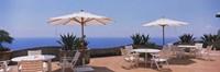 "Patio umbrellas in a cafe, Positano, Amalfi Coast, Salerno, Campania, Italy by Panoramic Images - 36"" x 12"""