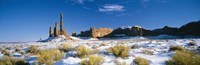 """Rock formations on a landscape, Monument Valley, Utah, USA by Panoramic Images - 36"""" x 12"""""""
