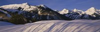 """Mountains covered with snow, Snowmass Mountain on left, Capitol Peak on right, Elk Mountains, Snowmass Village, Colorado, USA by Panoramic Images - 36"""" x 12"""""""