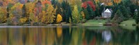 """Lake With House, Canada by Panoramic Images - 36"""" x 12"""", FulcrumGallery.com brand"""