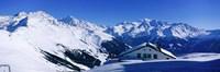 Alpine Scene In Winter, Switzerland Fine Art Print