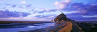 """Mont St Michel France by Panoramic Images - 36"""" x 12"""""""