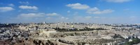 "Ariel View Of The Western Wall, Jerusalem, Israel by Panoramic Images - 36"" x 12"""