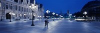 "Hotel de Ville & Notre Dame Cathedral Paris France by Panoramic Images - 36"" x 12"""