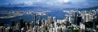 Hong Kong with Cloudy Sky, China Fine Art Print