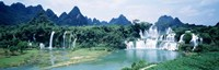 """Detian Waterfall, Guangxi Province, China by Panoramic Images - 36"""" x 12"""""""
