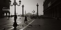 """Venice Italy in Black and White by Panoramic Images - 36"""" x 18"""""""