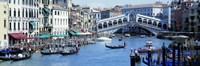 Rialto Bridge & Grand Canal Venice Italy Fine Art Print
