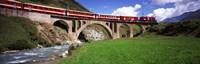 "Railroad Bridge, Andermatt, Switzerland by Panoramic Images - 36"" x 12"""