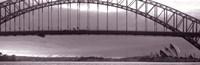 """Harbor Bridge, Pacific Ocean, Sydney, Australia by Panoramic Images - 36"""" x 12"""""""