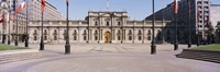 Facade of a palace, Plaza De La Moneda, Santiago, Chile Fine Art Print