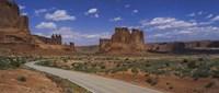 Empty road running through a national park, Arches National Park, Utah, USA Fine Art Print
