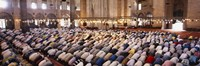 "Crowd praying in a mosque, Suleymanie Mosque, Istanbul, Turkey by Panoramic Images - 36"" x 12"" - $34.99"