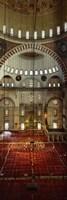 Interiors of a mosque, Suleymanie Mosque, Istanbul, Turkey Fine Art Print
