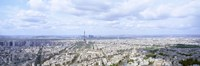 """High angle view of Eiffel Tower, Paris, France by Panoramic Images - 36"""" x 12"""""""