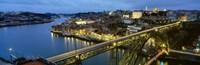 "Bridge across a river, Dom Luis I Bridge, Oporto, Portugal by Panoramic Images - 36"" x 12"""