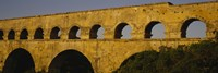 """High section view of an ancient aqueduct, Pont Du Gard, Nimes, Provence, France by Panoramic Images - 36"""" x 12"""""""