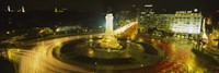"""High angle view of traffic moving around a statue, Marques De Pombal Square, Lisbon, Portugal by Panoramic Images - 36"""" x 12"""""""