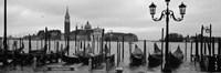 Gondolas with a church in the background, Church Of San Giorgio Maggiore, San Giorgio Maggiore, Venice, Veneto, Italy Fine Art Print