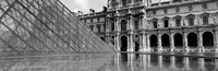 """Pyramid in front of an art museum, Musee Du Louvre, Paris, France by Panoramic Images - 36"""" x 12"""""""