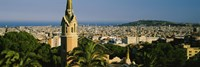 "High Angle View of Barcelona, Spain by Panoramic Images - 36"" x 12"""