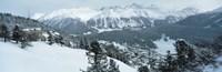 "Winter, St Moritz, Switzerland by Panoramic Images - 36"" x 12"""