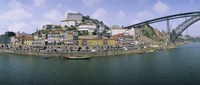 """Buildings at the waterfront, Oporto, Douro Litoral, Portugal by Panoramic Images - 36"""" x 12"""""""