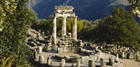 """High angle view of a monument, Tholos De Marmaria, Delphi, Greece by Panoramic Images - 36"""" x 12"""", FulcrumGallery.com brand"""