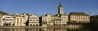 """Switzerland, Zurich, Buildings at the waterfront by Panoramic Images - 36"""" x 12"""""""