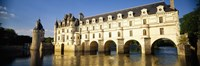 """Reflection of a castle in water, Chateau De Chenonceaux, Chenonceaux, Loire Valley, France by Panoramic Images - 36"""" x 12"""""""