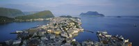 """High angle view of a town, Alesund, More og Romsdall, Norway by Panoramic Images - 36"""" x 12"""""""