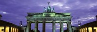 Low Angle View Of The Brandenburg Gate, Berlin, Germany Fine Art Print