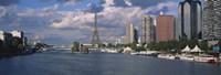 Buildings at the riverbank, Seine River, Paris, France Fine Art Print