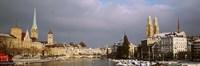 "Winter, Zurich, Switzerland by Panoramic Images - 36"" x 12"""