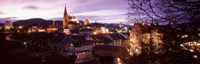 "Night, Baden, Switzerland by Panoramic Images - 36"" x 12"""