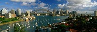 """Harbor And City And Bridge, Sydney, Australia by Panoramic Images - 36"""" x 12"""""""