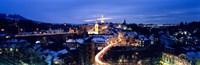 """Night Bern Switzerland by Panoramic Images - 36"""" x 12"""""""