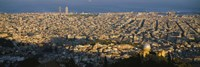 """High Angle View Of A Cityscape, Barcelona, Spain by Panoramic Images - 36"""" x 12"""", FulcrumGallery.com brand"""