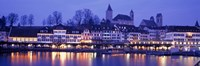 Evening, Lake Zurich, Rapperswil, Switzerland Fine Art Print