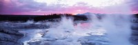 Sunset, Norris Geyser Basin, Wyoming, USA Fine Art Print