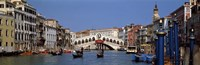 Bridge across a canal, Rialto Bridge, Grand Canal, Venice, Veneto, Italy Fine Art Print