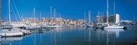 """View of a marina, Algarve Portugal by Panoramic Images - 36"""" x 12"""", FulcrumGallery.com brand"""